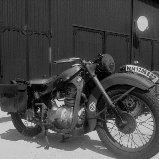 BMW R-35 motorcycle, 1942 y.