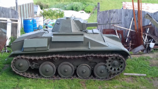 Replica of the T-60 tank