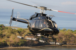 The Bell 407 helicopter, new