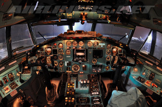 The Cockpit Of The Tu-154